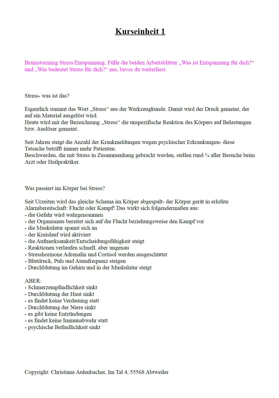 Großartig Entspannung Arbeitsblatt Galerie - Super Lehrer ...